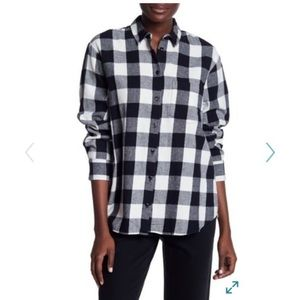 Madewell oversized plaid shirt